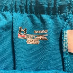 Under Armour Shorts - Under Armour Heat Gear Running Shorts Medium Blue